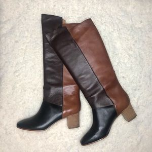 NWT Leifnotes Mixed Leather Robyn Boots